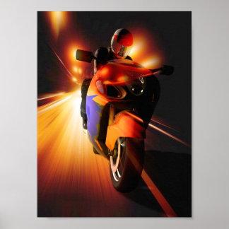Speedy Biker Mini Poster