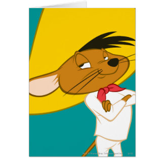 Speedy Gonzales Confident Color Greeting Card