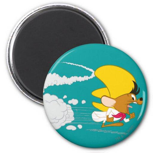 Speedy Gonzales Running in Color Refrigerator Magnet