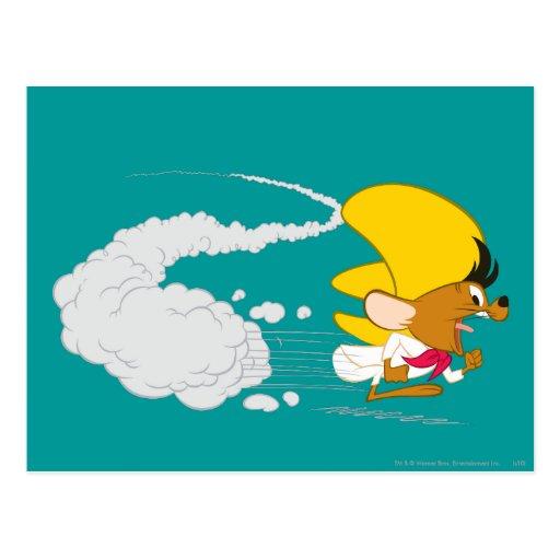 Speedy Gonzales Running in Color Postcards