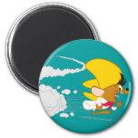 Speedy Gonzales Running in Colour 6 Cm Round Magnet
