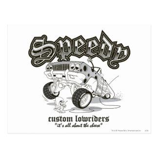 Speedy Gonzalez Custom Lowriders B/W Postcard