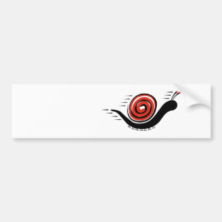 Speedy Snail Bumper Sticker