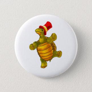 Speedy the Circus Tortoise 6 Cm Round Badge