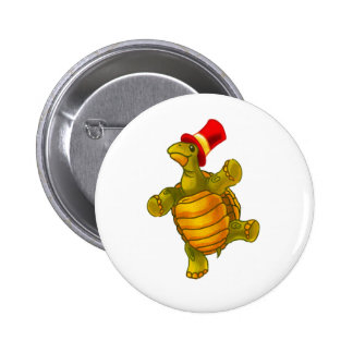 Speedy the Circus Tortoise 6 Cm Round Badge