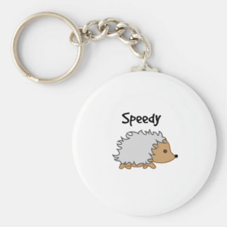 Speedy the Hedgehog Cartoon Illustration Key Ring