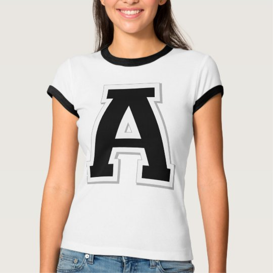 Spell it Out Initial Letter A Black Women's