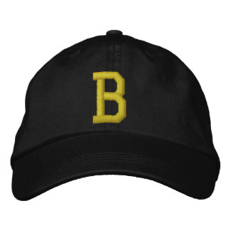 Spell it Out Initial Letter B Ball Cap Embroidered Hats