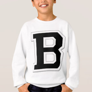 Spell it Out Initial Letter B Black Sweatshirt