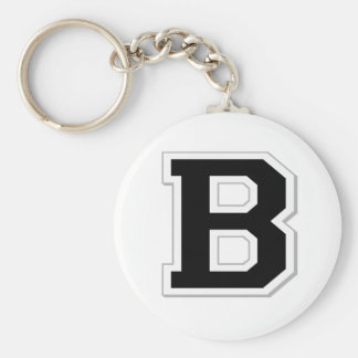 Spell it Out Initial Letter B in Black Key Chain