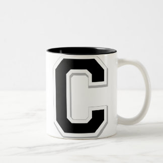 Spell it Out Initial Letter C Black Coffee Mug