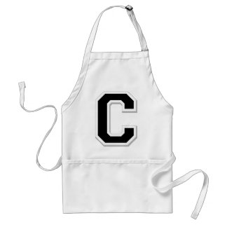 Spell it Out Initial Letter C in Black Apron