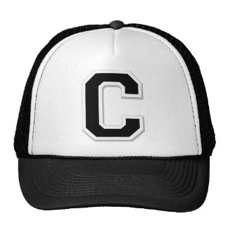 Spell it Out Initial Letter C in Black Ball Cap