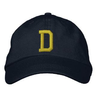 Spell it Out Initial Letter D Ball Cap Baseball Cap