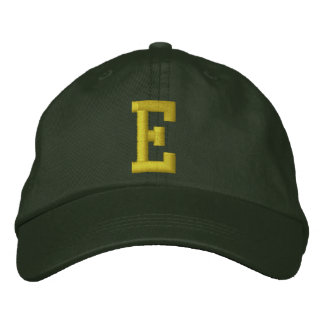 Spell it Out Initial Letter E Ball Cap Embroidered Hat