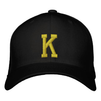 Spell it Out Initial Letter K Ball Cap Embroidered Baseball Caps