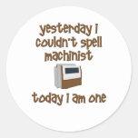Spell Machinist Round Sticker