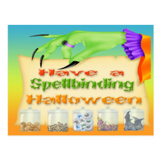 Spellbinding Halloween - Witch Hand Postcard