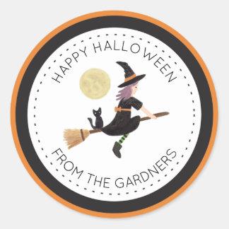 Spellbound Halloween Classic Round Sticker