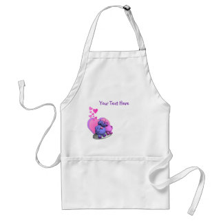 Spellbound Hippo Caricatures Standard Apron