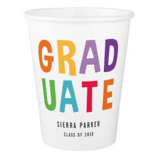 Spelled Out Fun Graduation Paper Cup