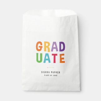 Spelled Out Fun Graduation Party Favor Bags