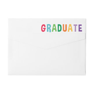 Spelled Out Fun Graduation Wraparound Label