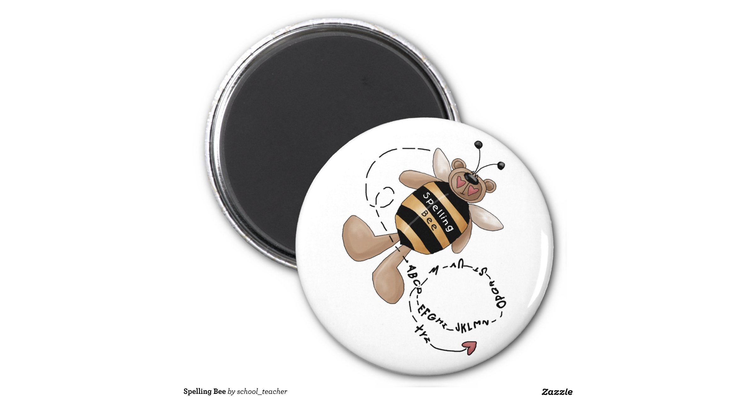 spelling bee 6 cm round magnet zazzle. Black Bedroom Furniture Sets. Home Design Ideas