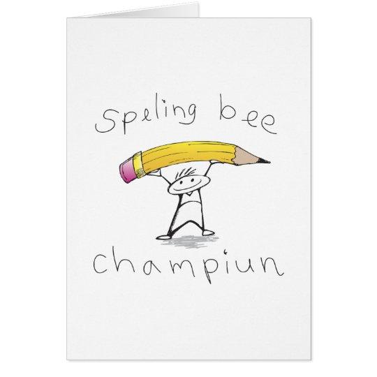 Spelling bee card