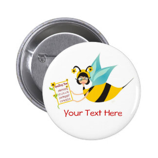 Spelling Bee Champ 6 Cm Round Badge