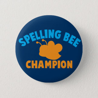 Spelling Bee Champion 6 Cm Round Badge