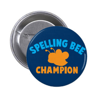 Spelling Bee Champion 6 Cm Round Badge