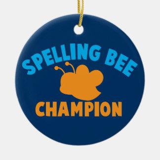 Spelling Bee Champion Round Ceramic Decoration