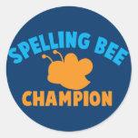 Spelling Bee Champion Sticker