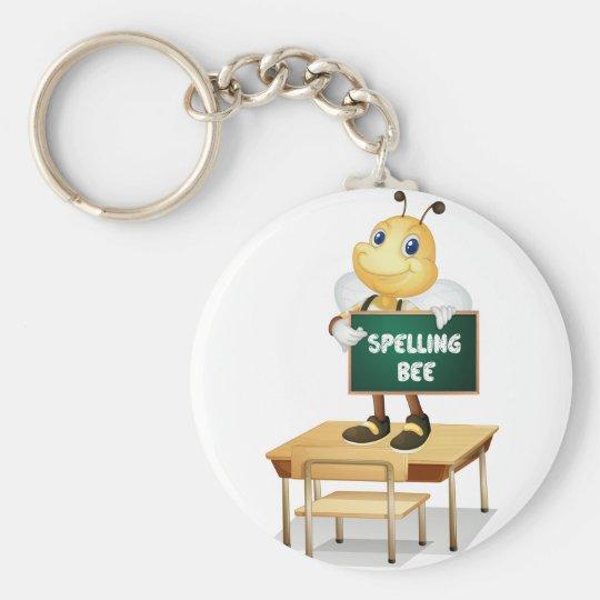 Spelling bee key ring