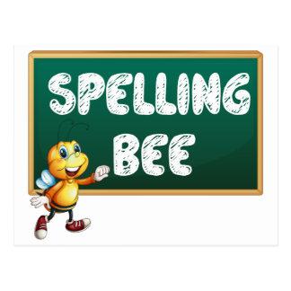 Spelling bee postcard
