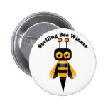 Spelling Bee Winner 6 Cm Round Badge
