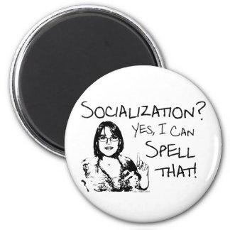 Spelling Socialization 6 Cm Round Magnet