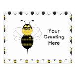 SpellingBee Bumble Bee Postcard