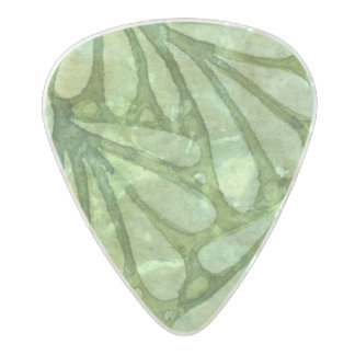 Spellstone Leaf Pearl Celluloid Guitar Pick