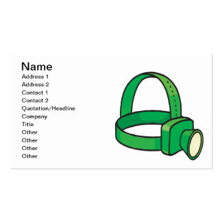 Spelunkers Head Light Pack Of Standard Business Cards