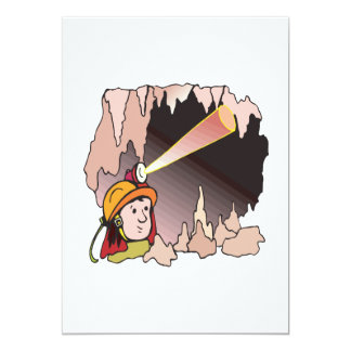 Spelunking 11 5x7 paper invitation card