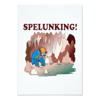 Spelunking 2 5x7 paper invitation card