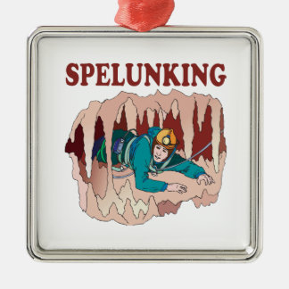Spelunking 3 christmas ornament