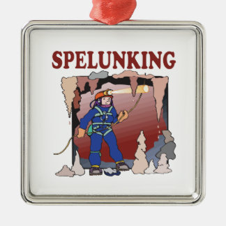 Spelunking 5 christmas ornament
