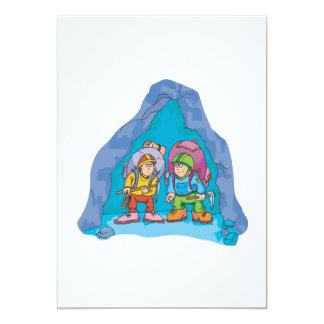 Spelunking 8 5x7 paper invitation card