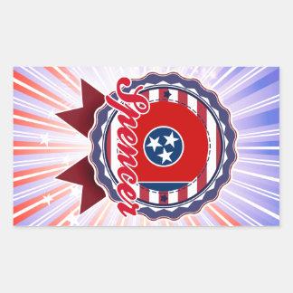 Spencer TN Rectangle Sticker