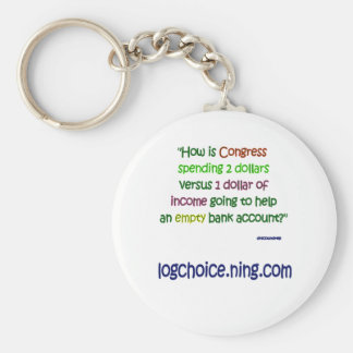 Spending 2 to 1 basic round button key ring