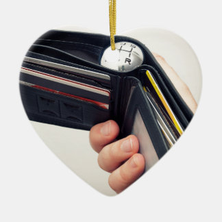 Spending speed ceramic heart decoration