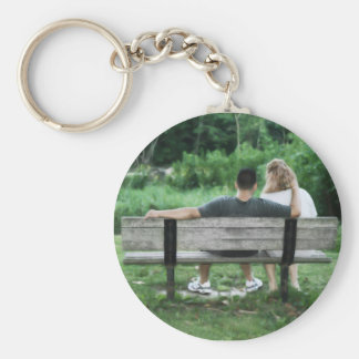 Spending Time Basic Round Button Key Ring